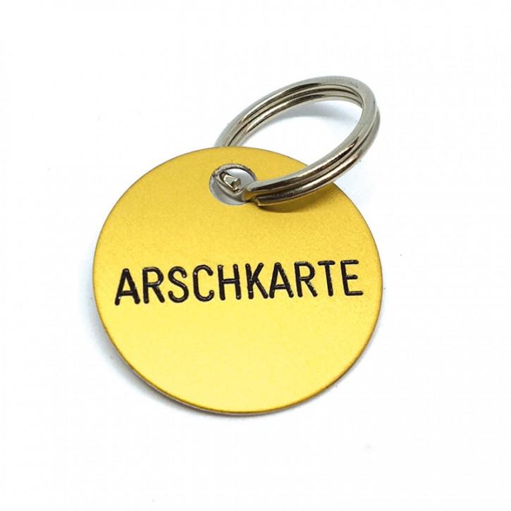 """Schlüsselanhänger """"Arschkarte"""""""