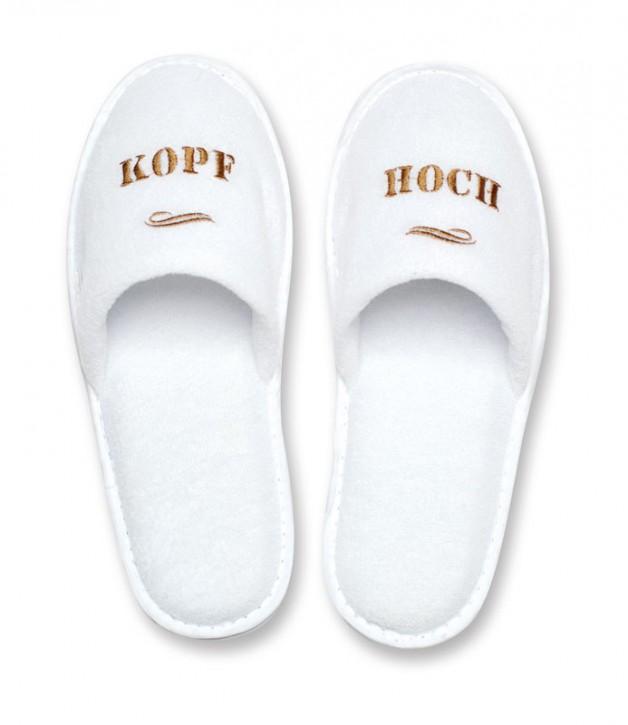 """Slipper """"Kopf Hoch"""""""