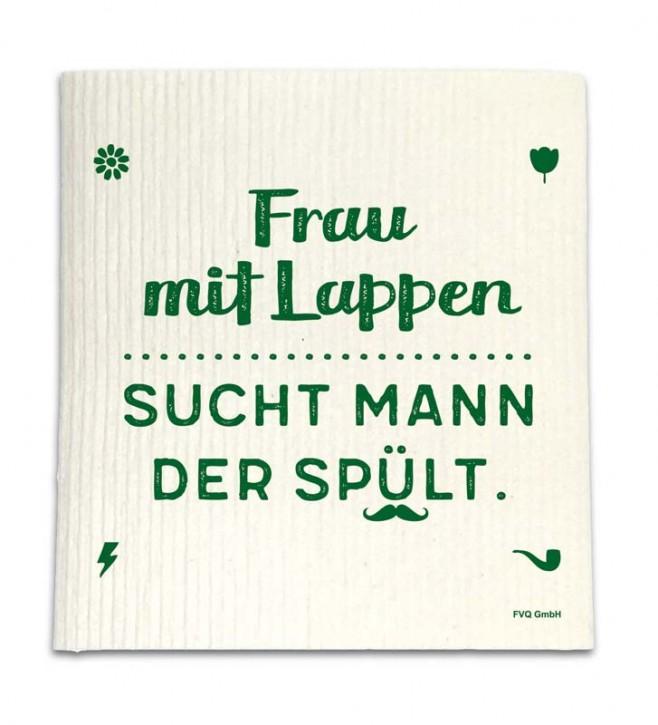 """Spüllappen """"Frau mit Lappen"""""""