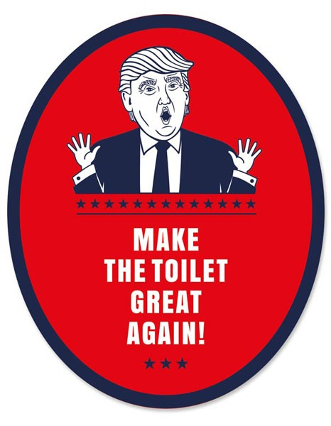 "Toilet Sticker ""Trump"""