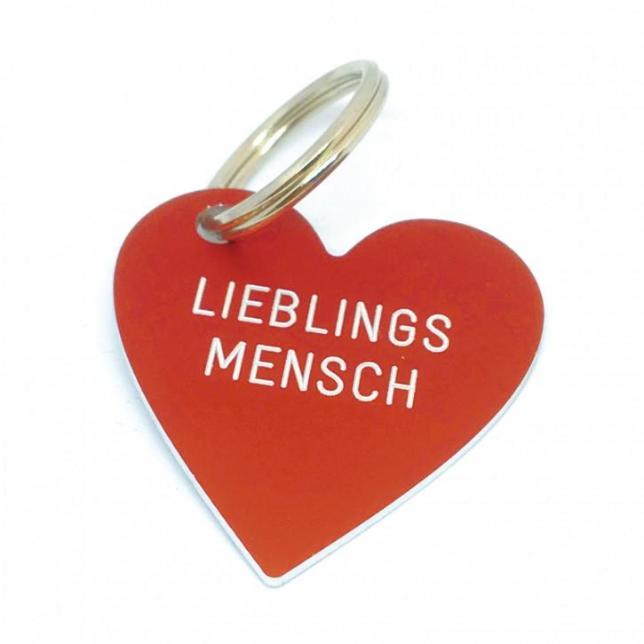 """Herz Anhänger """"LIEBLINGS MENSCH"""""""