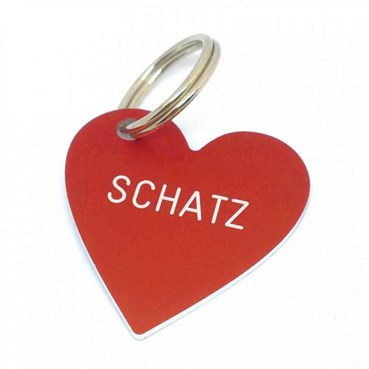 "Herz Anhänger ""SCHATZ"""