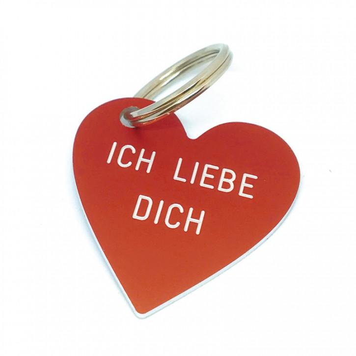 """Herz Anhänger """"ICH LIEBE DICH"""""""