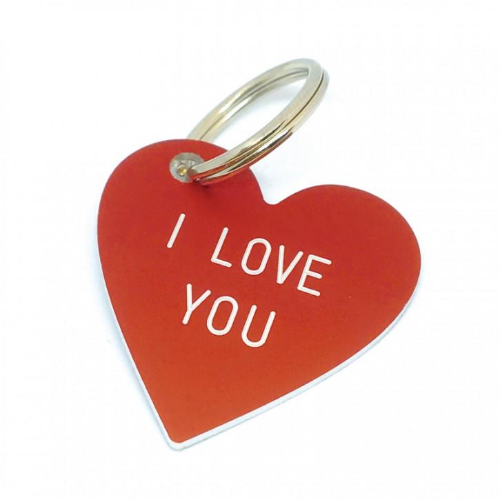 "Herz Anhänger ""I LOVE YOU"""