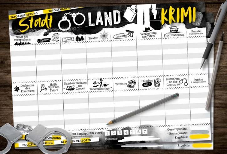 """Spielblock """"Stadt-Land-Krimi"""""""