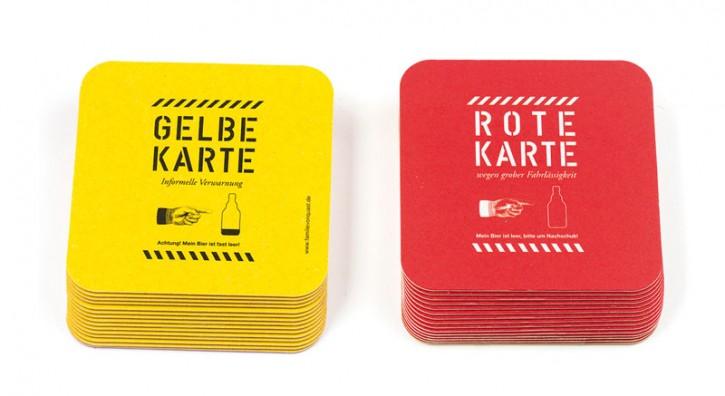 """Bierdeckel """"Gelbe Karte / Rote Karte"""""""
