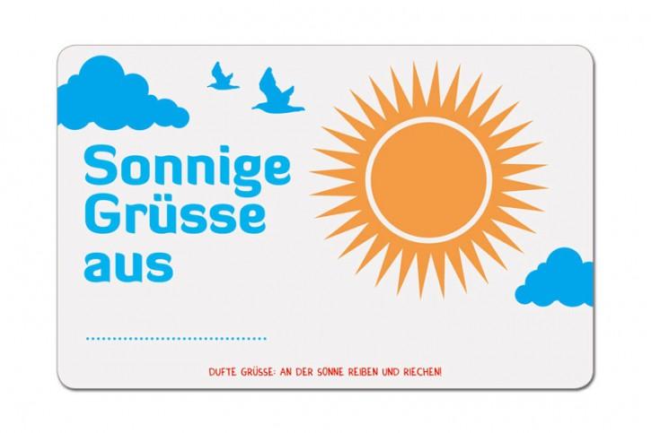 """Duftpostkarte """"Sonnige Grüsse aus..."""""""