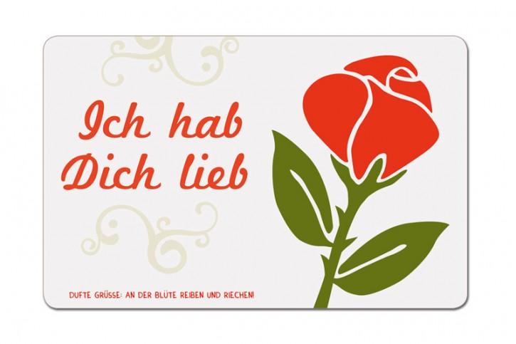 """Duftpostkarte """"Ich hab Dich lieb"""""""