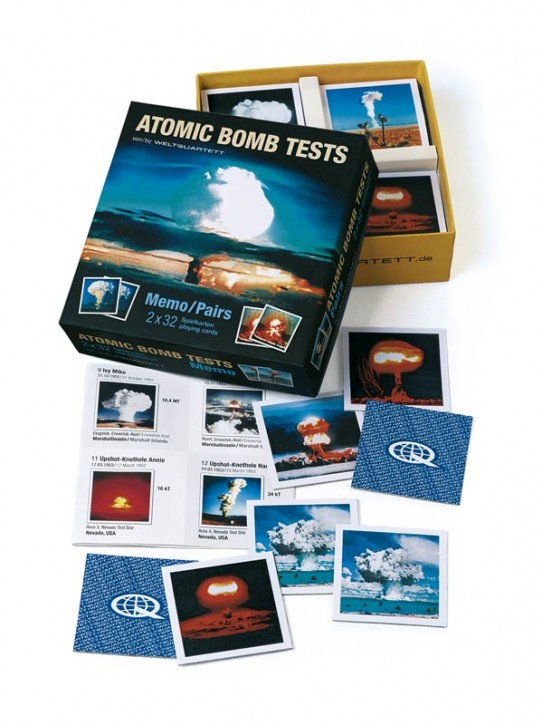 "Memo Spiel ""Atomic Bomb Tests"""