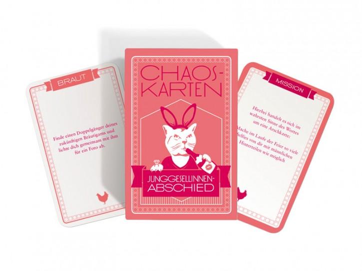 """Chaos-Karten """"Junggesellinnenabschied"""""""