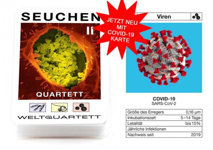 """Quartett """"Seuchen 2"""" - jetzt mit COVID-19 Zusatzkarte"""