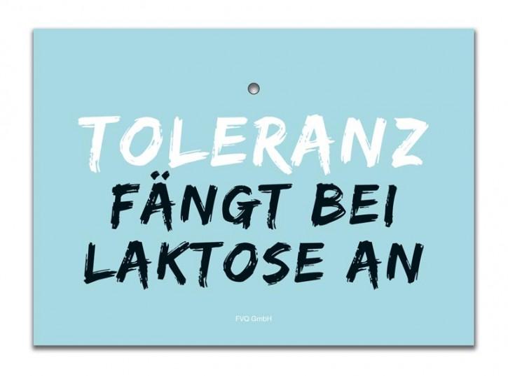 """Saugnapfschild """"Toleranz"""""""