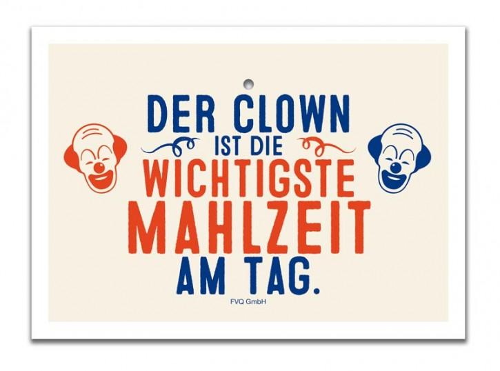 """Saugnapfschild """"Clown"""""""