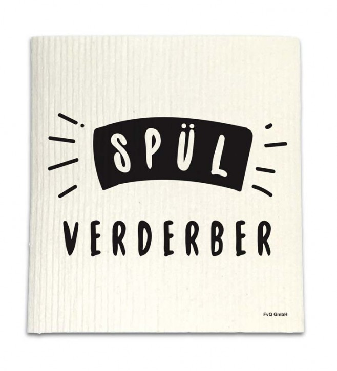 """Spüllappen """"Spülverderber"""""""