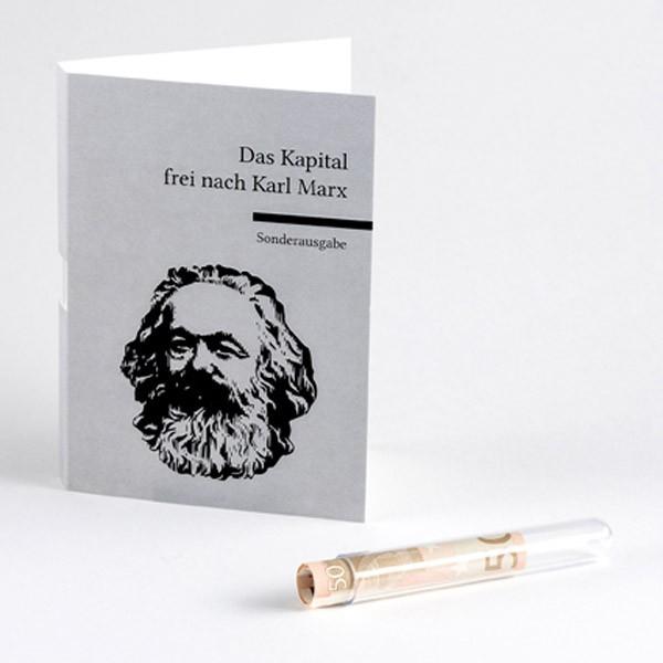 """Geldgeschenkkarte """"Das Kapital frei nach Karl Marx"""""""