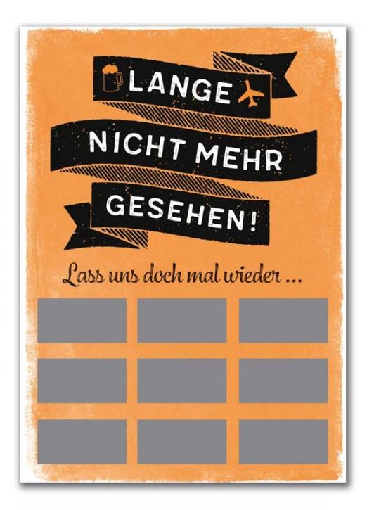 """Rubbel-Postkarte """"Lange nicht mehr gesehen """""""