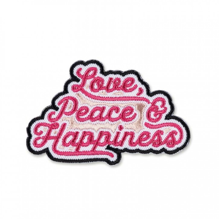 "Patch  ""Love, Peace & Happiness"""