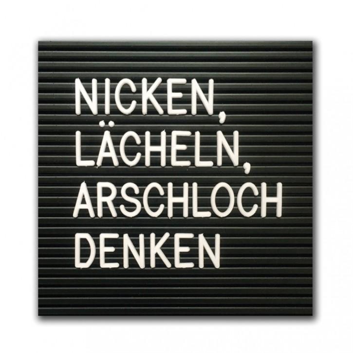 """Magnet """"Nicken, lächeln"""""""