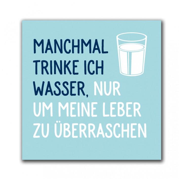 """Magnet """"Manchmal trinke ich Wasser"""""""