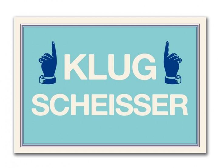 """Postkarte """"Klugscheisser"""""""