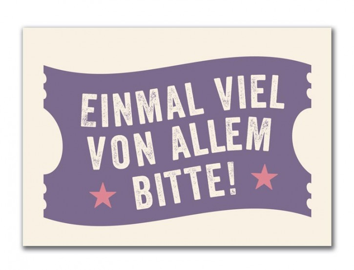 "Postkarte ""Einmal viel"""