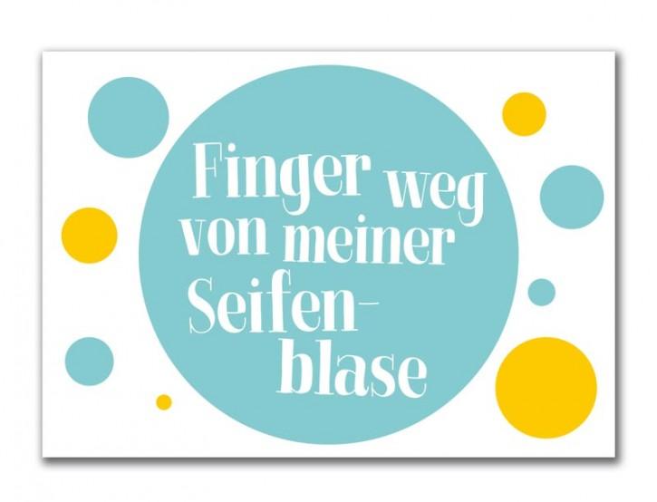 """Postkarte """"Finger weg"""""""