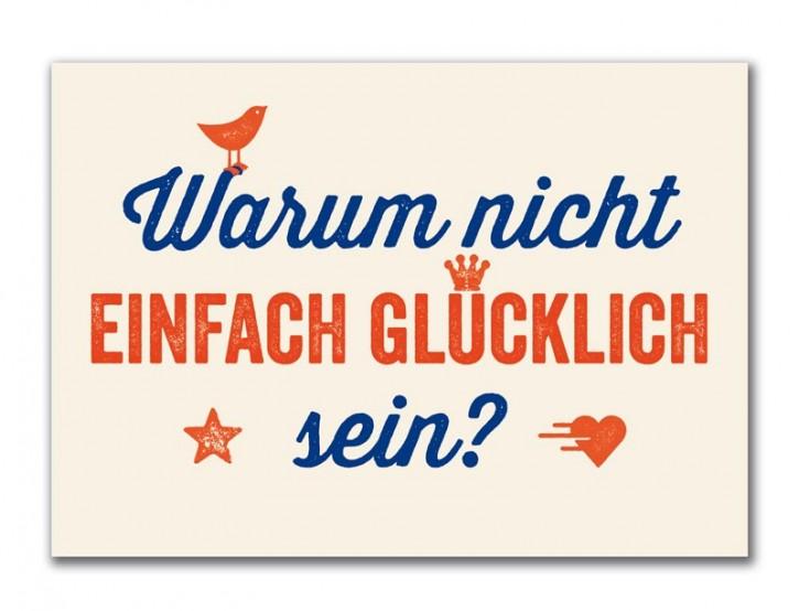 """Postkarte """"Glücklich sein"""""""
