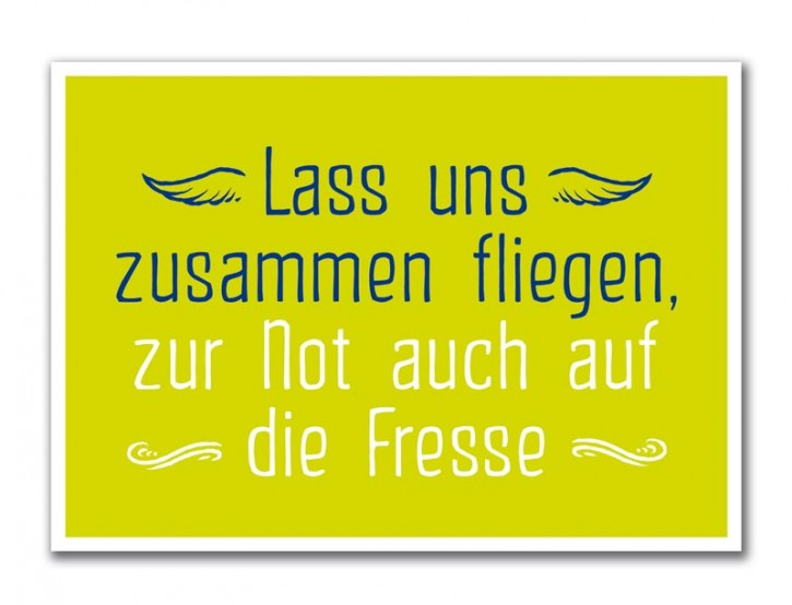 """Postkarte """"Zusammen fliegen"""""""