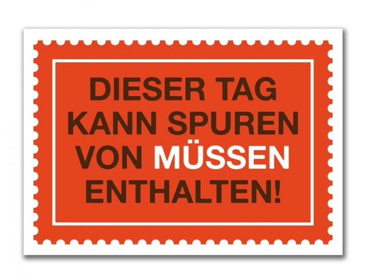 """Postkarte """"Spuren von Müssen"""""""