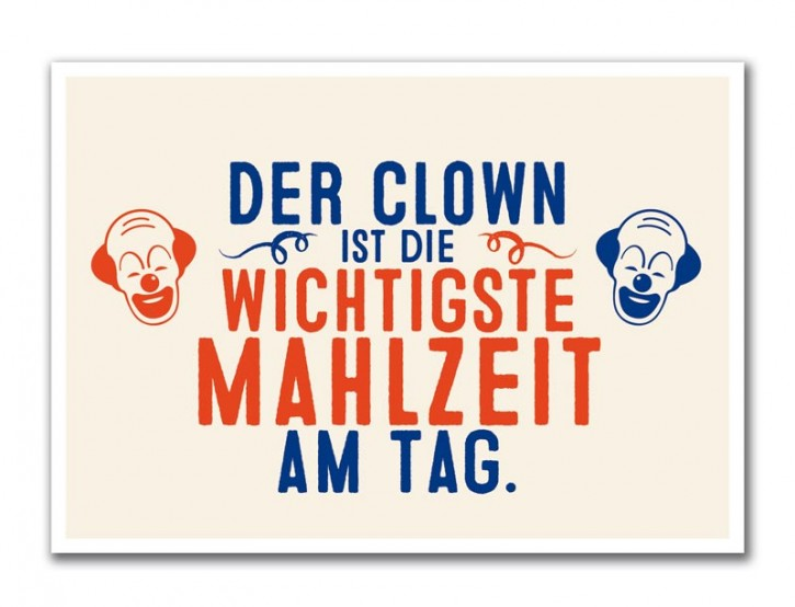 "Postkarte ""Clown"""