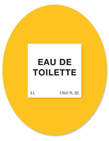 "Toilet Sticker ""Eau de Toilette"""