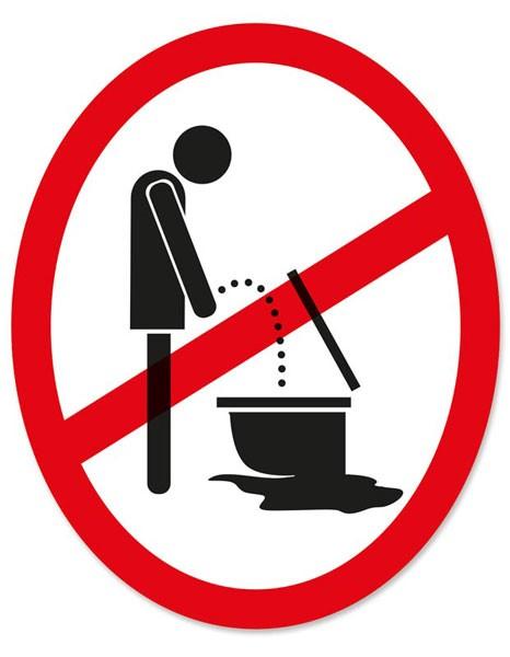 """Toilet Sticker """"Stehpinkler"""""""