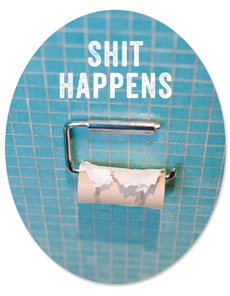 "Toilet Sticker ""Shit Happens"""