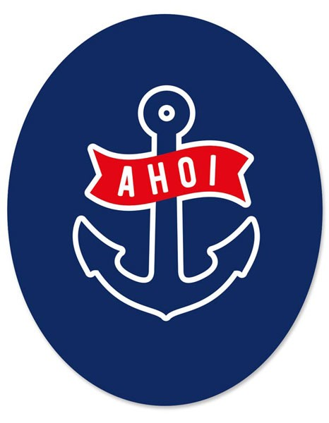 "Toilet Sticker ""Ahoi"""