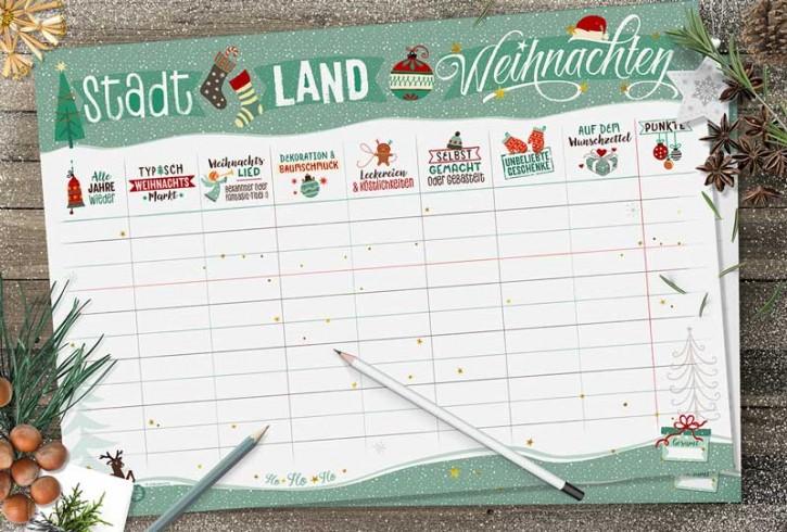 """Spielblock """"Stadt-Land-Weihnachten"""""""