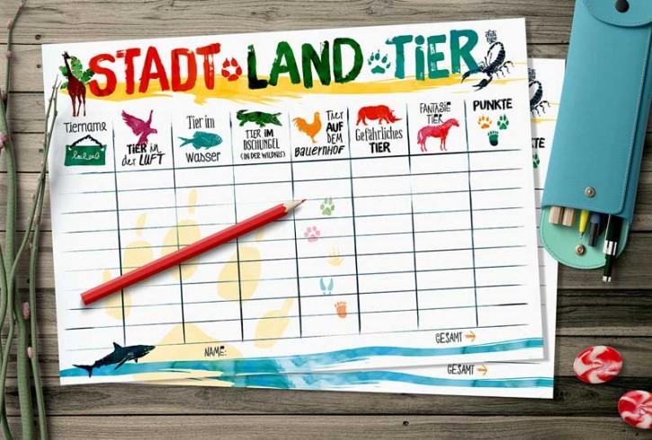 "Spielblock ""Stadt-Land-Tier"""