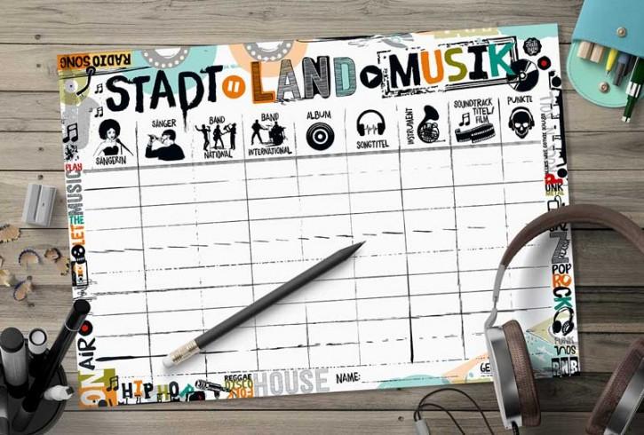 """Spielblock """"Stadt-Land-Musik"""""""