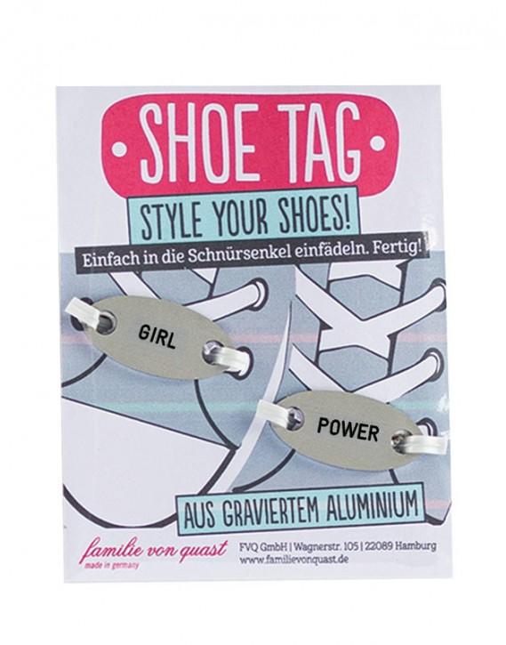 "Shoe Tag ""GIRL - POWER"""