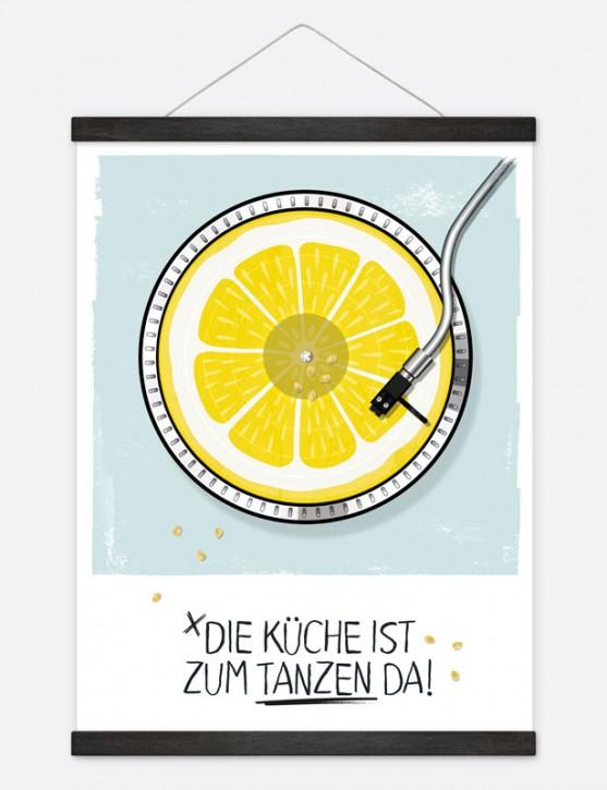 "Poster ""Küche tanzen"""