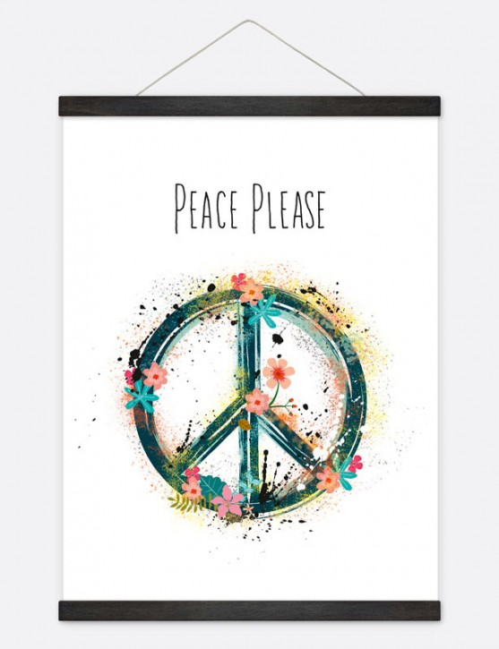 """Poster """"Peace Please"""""""