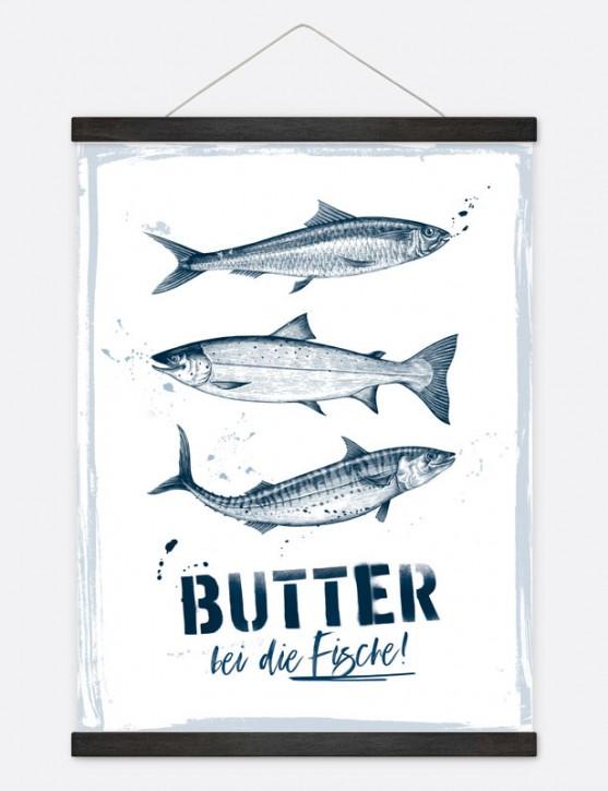 """Poster """"Butter bei die Fische!"""""""