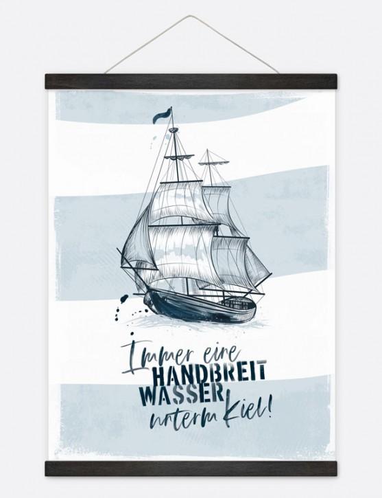 """Poster """"Handbreit Wasser"""""""