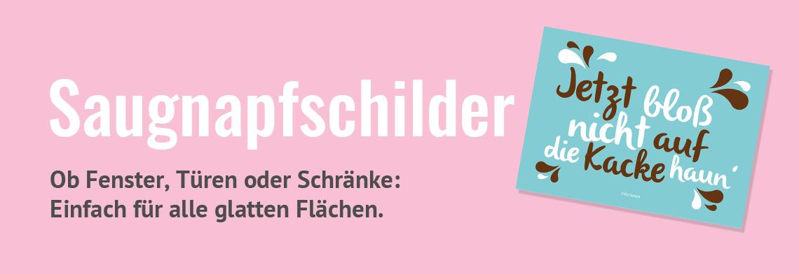 Schilder Postkarten Saugnapf Spruche Kuche Buro