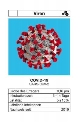 """Quartett """"Seuchen 1"""" - jetzt mit COVID-19 Zusatzkarte"""