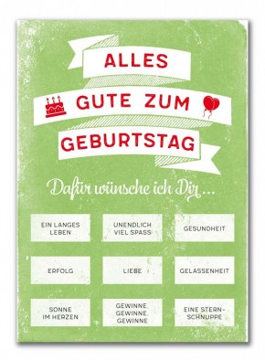 "Rubbel-Postkarte ""Geburtstag"""