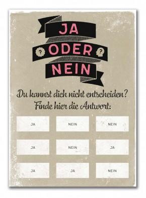 "Rubbel-Postkarte ""Ja oder Nein"""