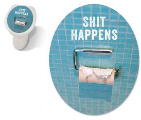 """Toilet Sticker """"Shit Happens"""""""