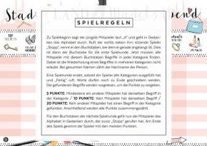 """Spielblock """"Stadt-Land-Mädelsabend"""""""